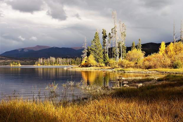 Fall colors at Lake Dillon.