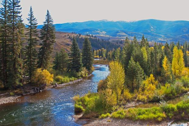 Blue River north of Silverthorne on Wednesday morning.