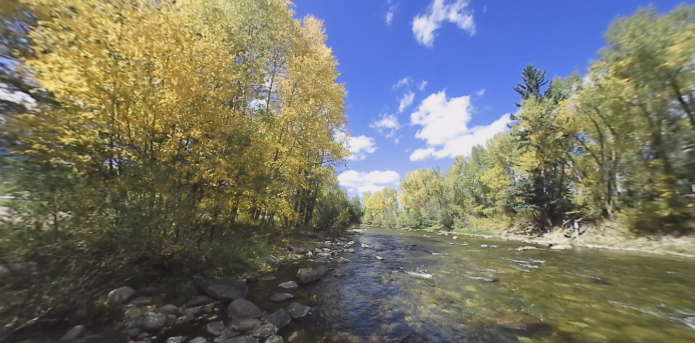 Summit 360: Blue River surrounded by fall foliage