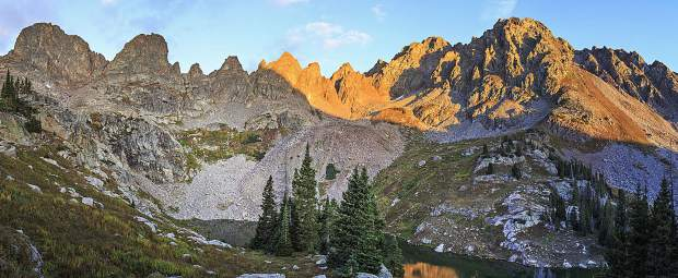 Spires above Willow Lakes in the Eagles Nest Wilderness Sunday morning, Sept. 17, near Silverthorne.