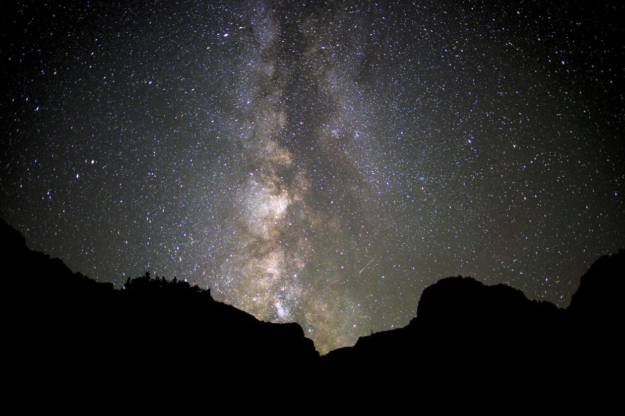Milky Way in the night sky above the Eagles Nest Wilderness Saturday, Sept. 16, west of Silverthorne.