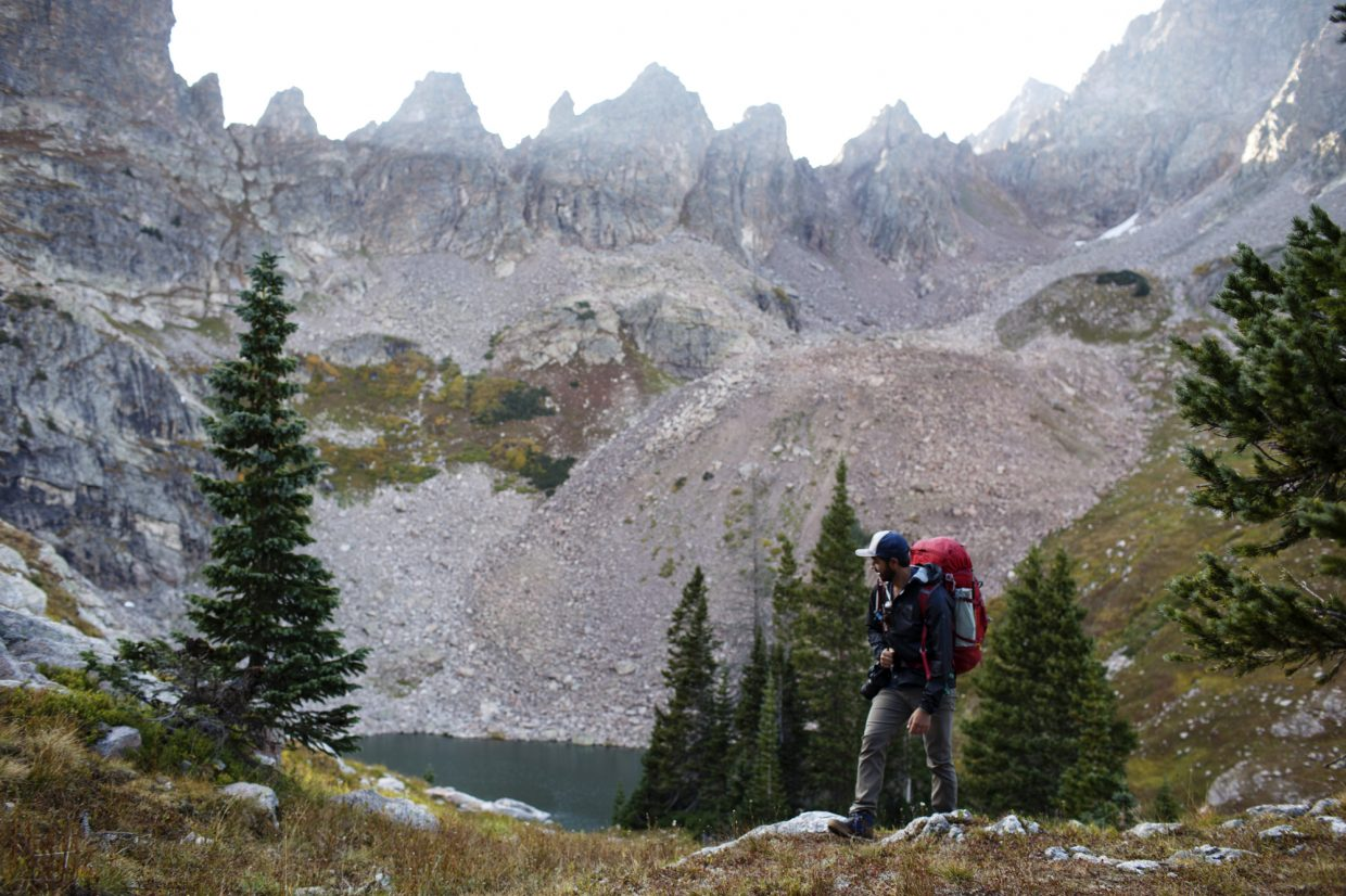 Boulder resident Nike Cote hikes near upper Willow Lake Saturday, Sept. 16, near Silverthorne.