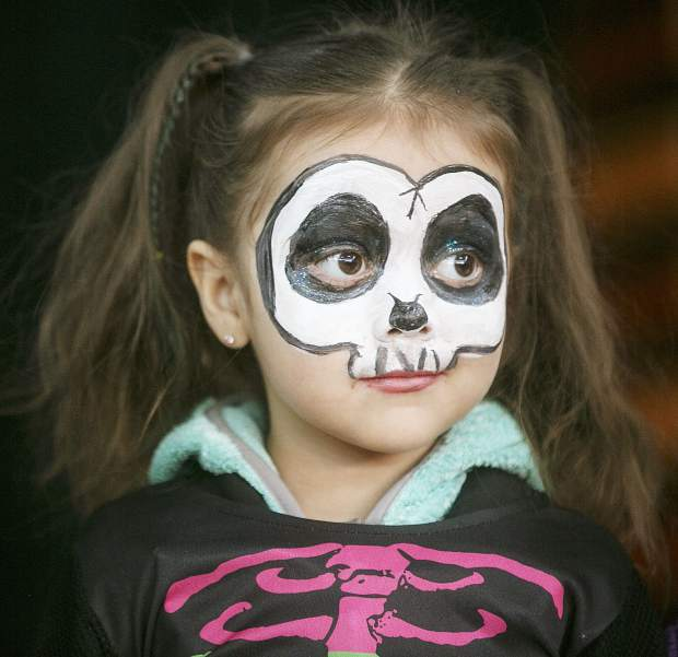 Child in skeletal costume during the Fall Festival Saturday, Oct. 14, in Breckenridge.