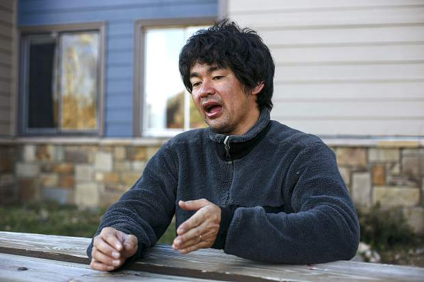 Shuei Kato, who went missing for three nights near Missouri Mountain, speaks during an interview Wednesday, Oct. 11, at his home in Silverthorne.