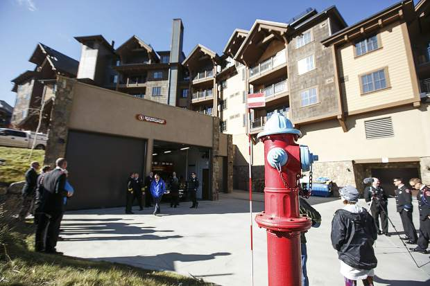 Red, White and Blue Fire's new Station 5 on the opening day Saturday in Breckenridge.