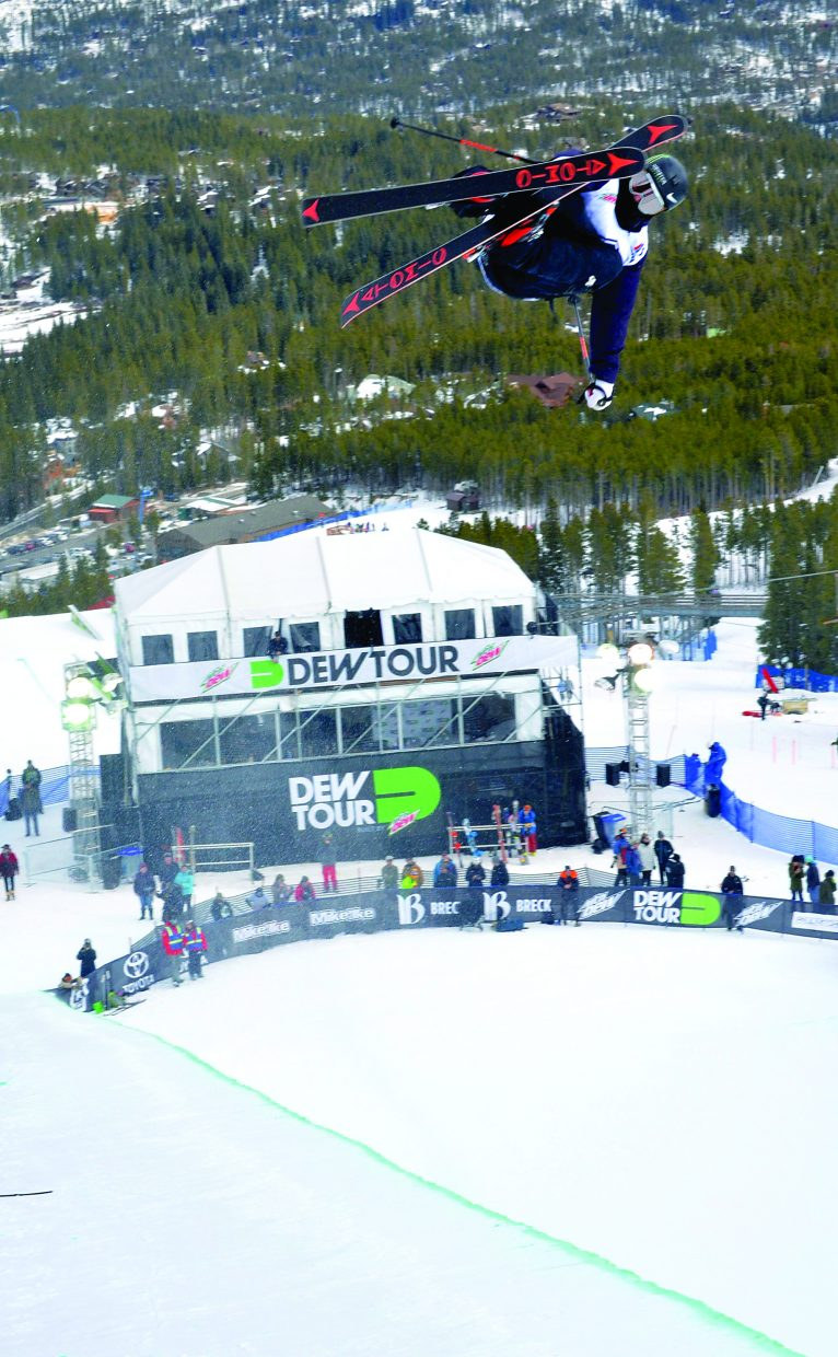 Telluride's Gus Kenworthy lofted a left 900 during practice before the men's freeski superpipe during Dew Tour in 2015. Kenworthy will return as one of the feature athletes at this year's event also at Breckenridge Ski Resort it was announced Tuesday.