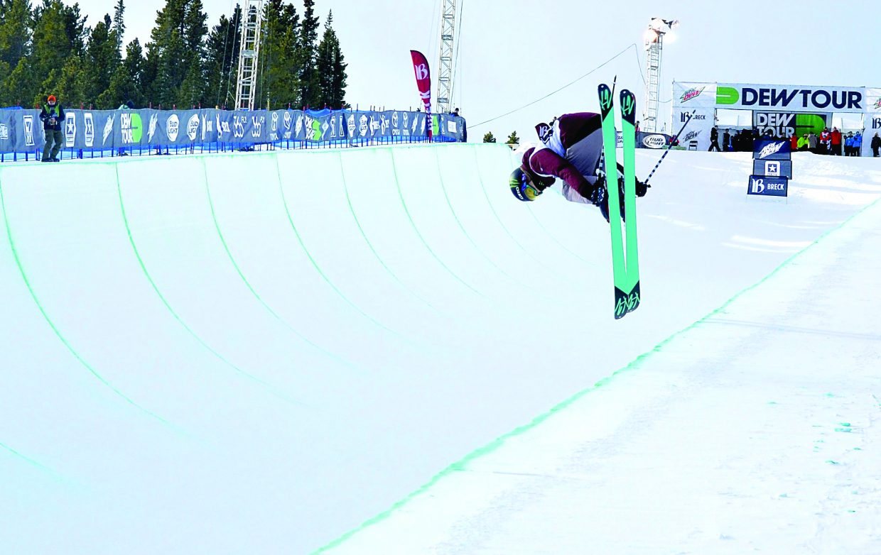 Cassie Sharpe of Canada, the second-place finisher in the women's freeski superpipe at Dew Tour 2015, spun a left 720 during a run in the event's finals last year. In addition to the traditional individual contests, the 2016 competition will also feature a brand-new team challenge.