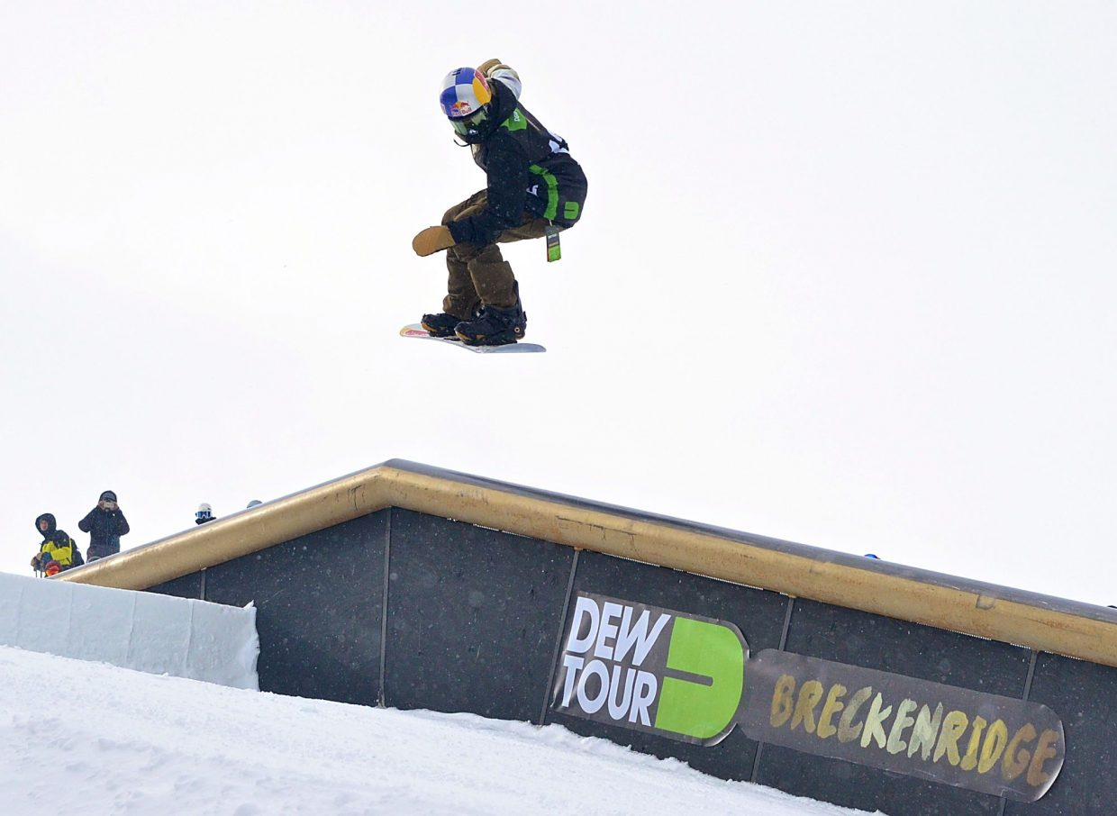 Pro snowboarder Markus Kleveland spins a 270 to frontside boardslide on the flat-down tube at 2016 Dew Tour in Breckenridge. The 2017event from Dec. 14-17 will serve as an Olympic qualifier for the 2018 Winter Olympics in PyeongChang, South Korea from Feb. 9-25.