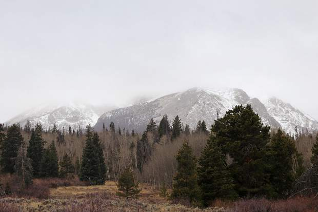Snowy mountains in Summit County.
