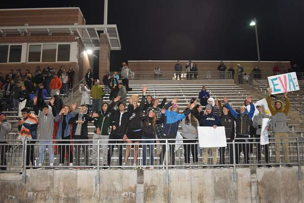 Fans and students who carpooled down to Westminster rejoice after the Summit Black rugby won their 10th consecutive state title, by the score of 50-7, over Westside Swarm of Denver in Westminster Saturday evening.
