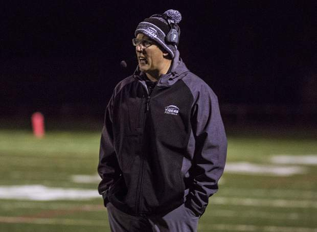Summit High School football coach during the game against Battle Mountain High School Friday, Nov. 3, in Frisco.