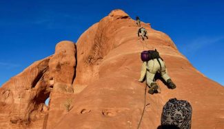 Through Utah's Looking Glass Arch: A moment-by-moment account of conquering a first free rappel