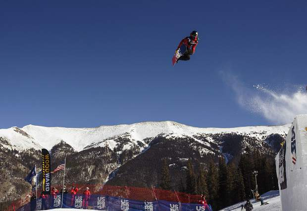 Silverthorne resident Chris Corning of the United States competes in the big air final during the U.S. Grand Prix event Sunday, Dec. 10, at Copper Mountain.
