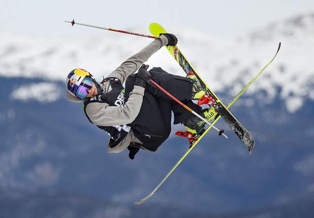 Nick Goepper of United States competes in the slopestyle finals during the Dew Tour event Saturday, Dec. 16, at Breckenridge Ski Resort. Goepper took home second with a high score of 92.