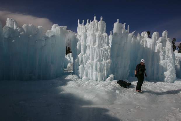 Dillon ice castle includes 50-foot ice slide, crawl ...
