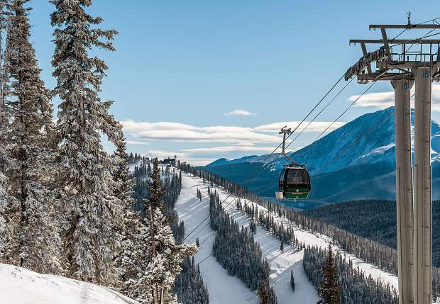 The Outpost Gondola at Keystone Resort transports passengers on Dec. 8.