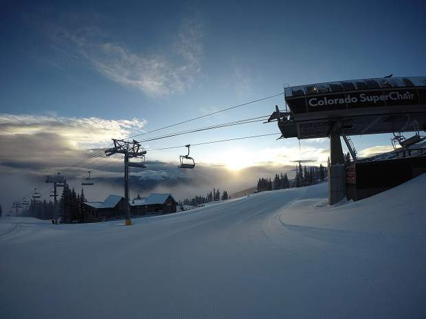 The Colorado SuperChair at Breckenridge Ski Resort is in view the morning of Dec. 8.