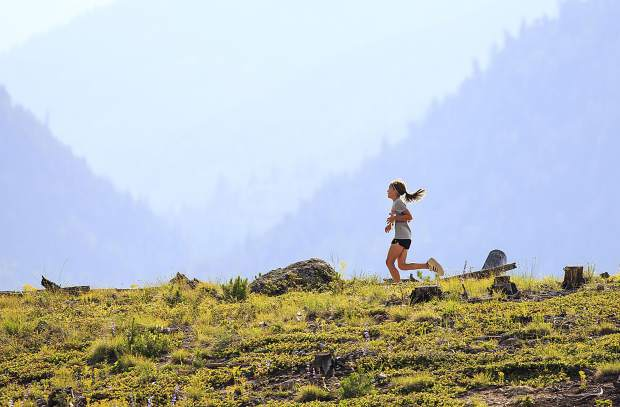 Loghan Meisner, 10, of Silverthorne, runs on a dirt trail on the Frisco Peninsula in part of the Mountain Goat Kids' Trail Running series Tuesday, June 27, in Frisco. The third annual running series for kids under age 13 occurs every Tuesday for the month of July and August, with races on July 11, July 25, and August 8.