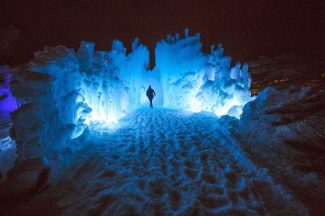 Ice at night: Photos from Dillon Ice Castles