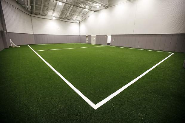 New indoor turf field inside the latest upgrade of the Breckenridge Recreation Center Friday, Jan. 12, in Breckenridge.