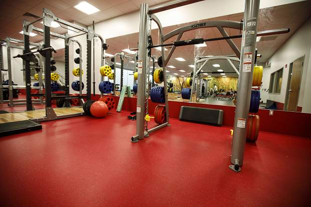 New training equipment inside the latest upgrade of the Breckenridge Recreation Center Friday, Jan. 12, in Breckenridge.