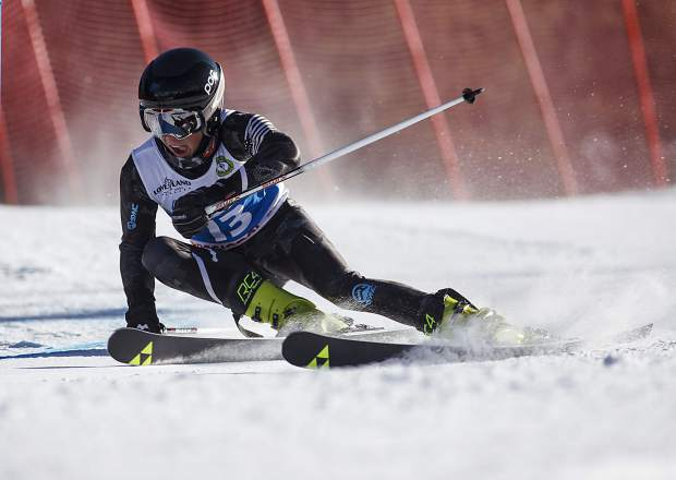 Sven Barr competes in the SYNC Ski-Up giant Slalom Race Thursday, Jan. 4, at Loveland Ski Area.
