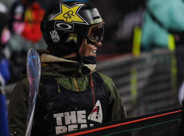 Arielle Gold during the Women's Superpipe finals on Saturday, Jan. 27, in Aspen. Gold took second.