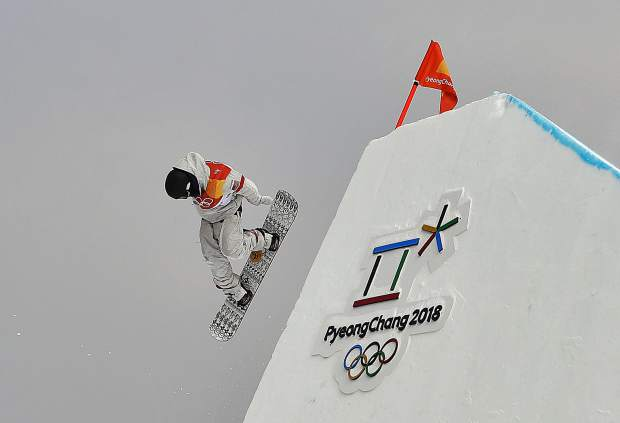 Silverthorne resident Kyle Mack jumps during the men's slopestyle qualifying round at Phoenix Snow Park at the 2018 Winter Olympics in Pyeongchang, South Korea on Saturday, Feb. 10.