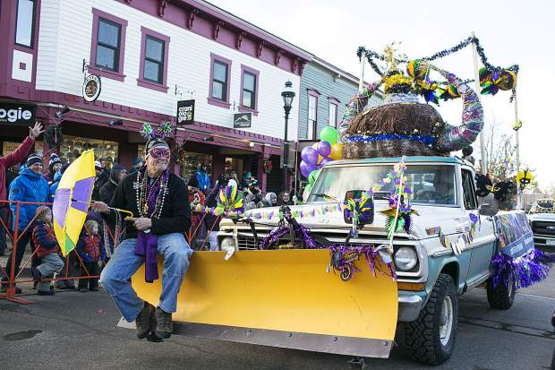 Scenes from the Mardi Gras parade on Main Street in Breckenridge Tuesday, Feb. 13.