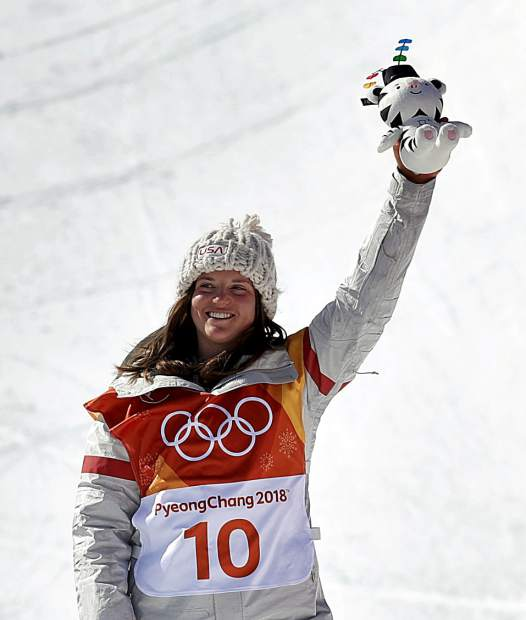 This is Breckenridge resident Arielle Gold, famous for winning the bronze medal in women's halfpipe at this year's Pyeongchang Winter Olympic Games.