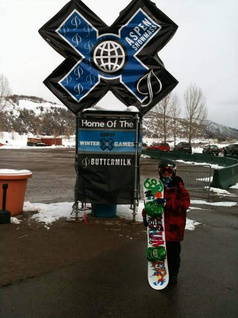 At the age of 12 Chris Corning takes this photo at the X Games, six years before he'd make his debut at the event last month in Aspen.