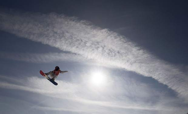 RedGerard of Silverthorne flies through the air during a slopestyle training session at the Phoenix Snow Park on Wednesday before the Pyeongchang 2018 Winter Olympic Games in South Korea.