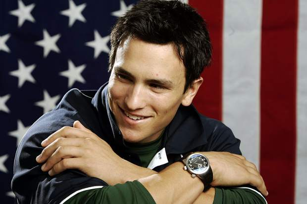 An Oct. 11, 2005, file photo, U.S. Olympic freestyle moguls skier Jeremy Bloom poses in Colorado Springs, Colo. With the anticipation of the Winter Olympics growing, Bloom has little time to look back on what could've been when he competed at the 2002 and 2006 Winter Games. Instead, he keeps freestyling through life with the same gusto that he displayed during his athletic career.