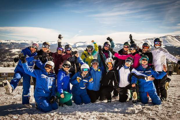 Participants pose for a group picture at last year's Women's Ski Week at Breckenridge Ski Resort.
