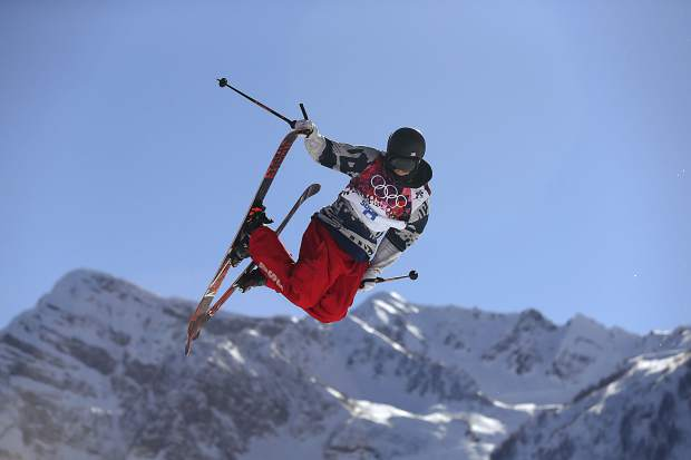 Gus Kenworthy of the United States competes in the men's ski slopestyle final to win the silver medal at the Rosa Khutor Extreme Park, at the 2014 Winter Olympics, in Krasnaya Polyana, Russia. Kenworthy already has an Olympic medal, from Sochi, and the chance for another at the games in Pyeongchang.
