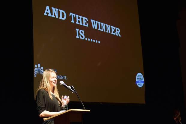 Pinnacle companies marketing director Andrea Kavouklis talks about the company after it won Best Place to Work on Wednesday at the Silverthorne Pavilion.