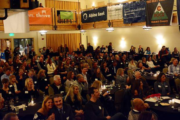The Silverthorne Pavilion was packed full on Wednesday for the Business Excellence Awards put on by the Summit Chamber of Commerce.