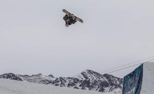 Mark McMorris, of Canada, goes big during the men's slopestyle final for the Burton U.S. Open Snowboarding Championships on Friday, March 9, in Vail. McMorris took first for the second year in a row.