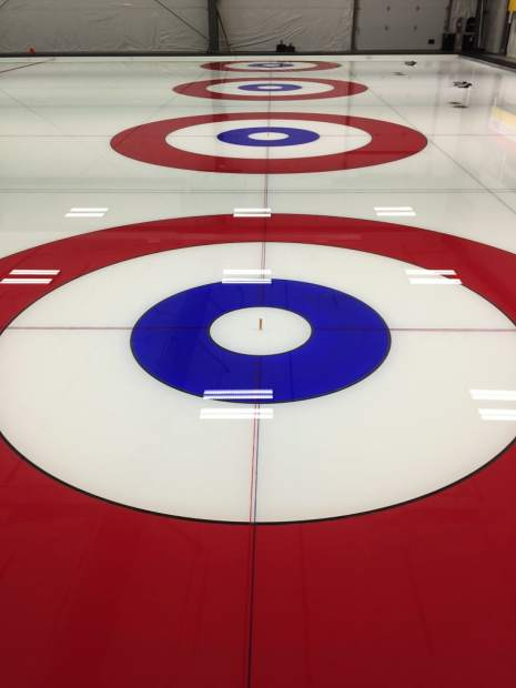 The playing surface at the Denver Curling Club.