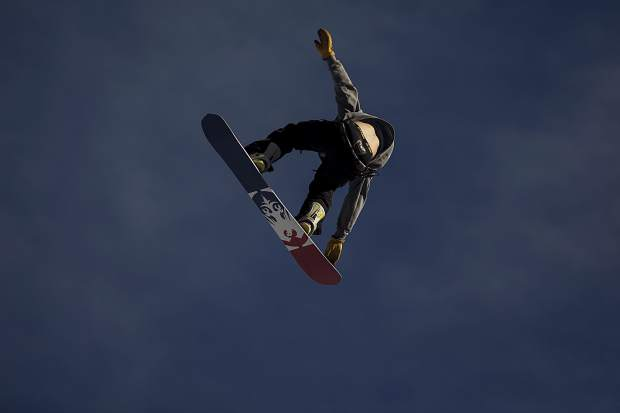 Silverthorne resident Chris Corning rotates in the air during the Hella Big Air competition Saturday, March 3, at Copper Mountain. Corning won the competition, his first contest since the Pyeongchang Olympics.