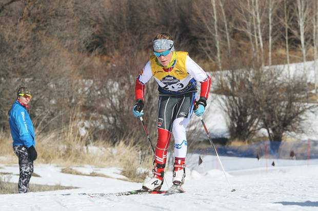 Summit Nordic Ski Club athlete Tai-Lee Smith competes in the girls under-16 classic race at the U.S. Ski and Snowboard cross country junior national championships in Soldier Hollow, Utah.