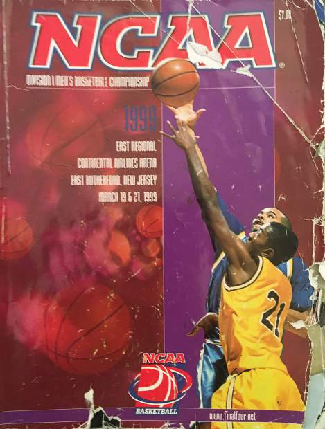 My event program from the first NCAA Tournament my father and I attended, nearly 19 years ago to the day.