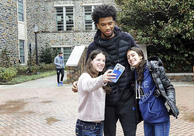 Don't be fooled by this picture. If Marvin Bagley III didn't have to attend Duke University this year due to NCAA and NBA regulations, he wouldn't have.