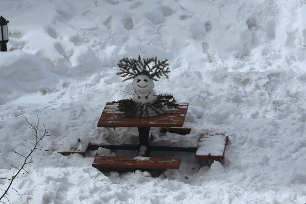 Snowmen come in all shapes and sizes in Breckenridge.