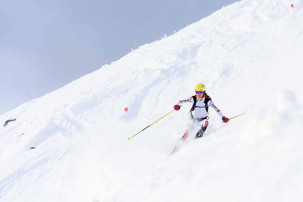 Breckenridge resident Sierra Anderson descends during her individual race victory at last weekend's Pan-American Ski Mountaineering Championships in Lake Louise, Alberta, Canada.
