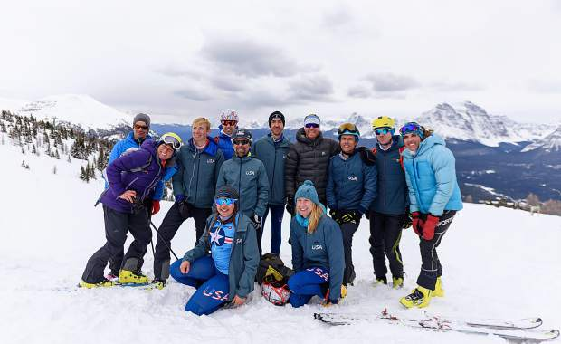 Team USA poses for a picture at last weekend's Pan-American Ski Mountaineering Championships in Lake Louise, Alberta, Canada.