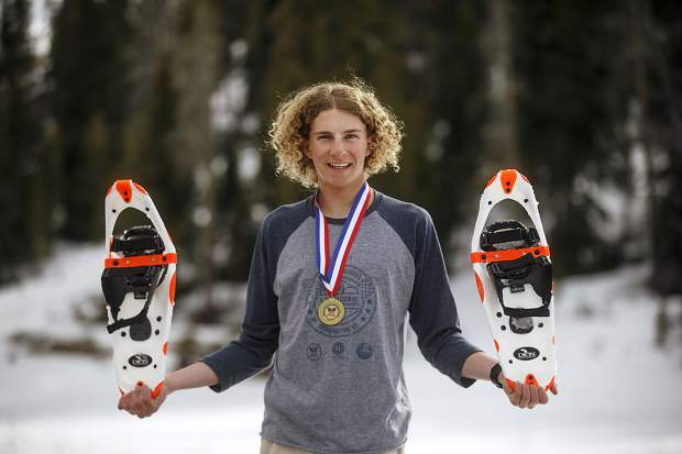 Summit High School snowshoer Jeremiah Vaille recently placed first in the 2018 Dion Snowshoes U.S. Junior National Championships in Vermont.