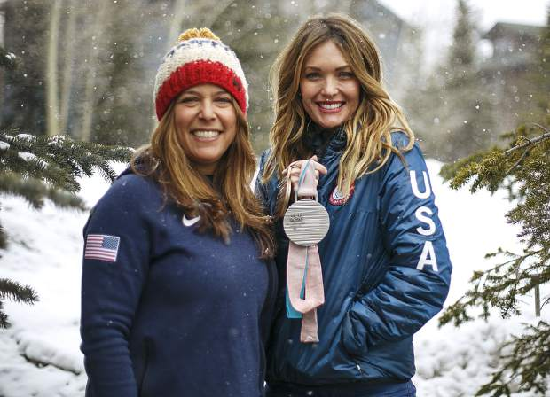 U.S. Paralympic medalist Amy Purdy (right), who lost both legs due to contracted bacterial meningitis, earned a silver and bronze medal in the snowboard cross and the banked slalom events at the PyeongChang 2018 Paralympic Winter Games, where she competed alongside Breckenridge resident and fellow para-snowboarder Arlene Cohen (left).