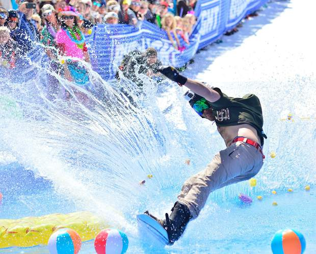 Breckenridge Ski Resort closed out its 2017-18 ski season Sunday, April 22, 2018, with the Breckenridge Plunge, a pond-skimming event at the base of Peak 8.