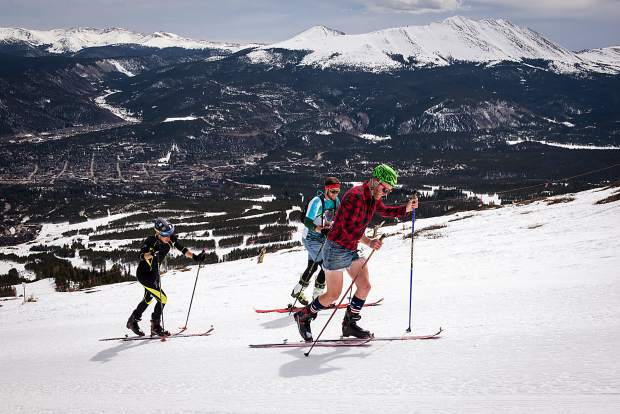 Participants ascend Breckenridge Ski Resort last April as part of the annual Imperial Challenge